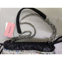 GedWud Women's shoulder bag metal chain strap side...