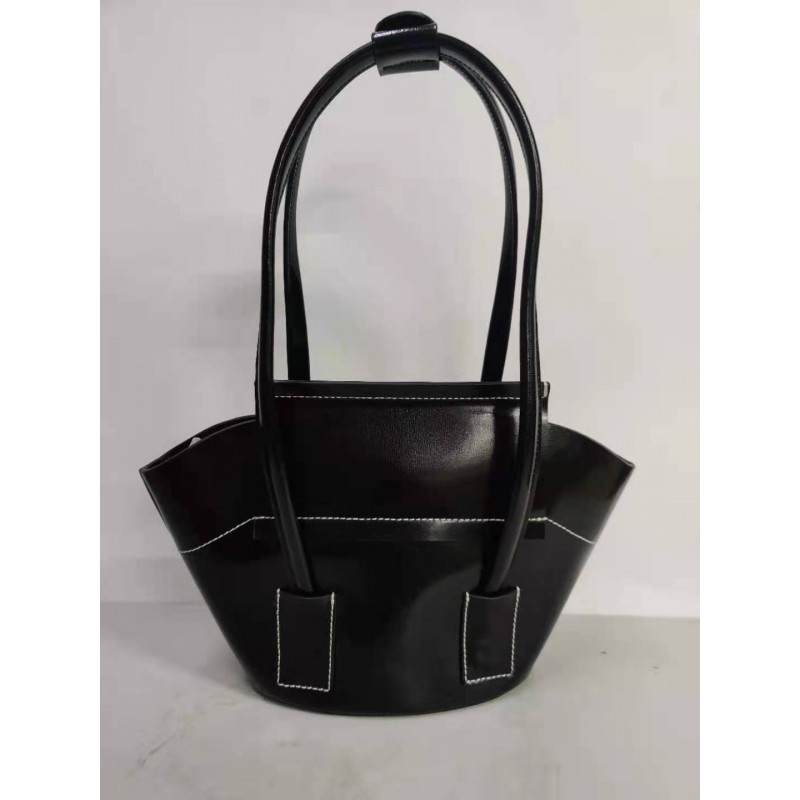 Jyingti Women's solid color black handbag