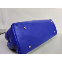 Agirlc Ladies pure color blue exquisite handbag