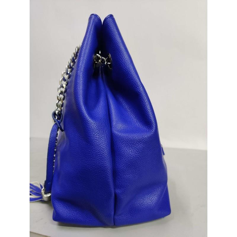 Agirlc Ladies pure color blue exquisite handbag