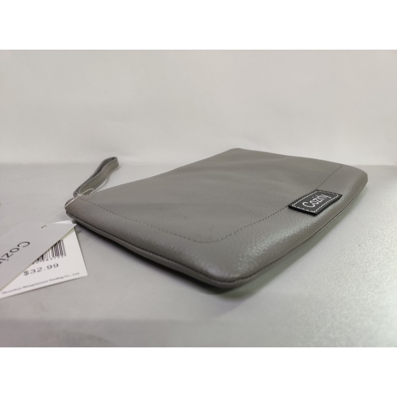 Cozirly  handbags for ladies gray Leather Wristle...