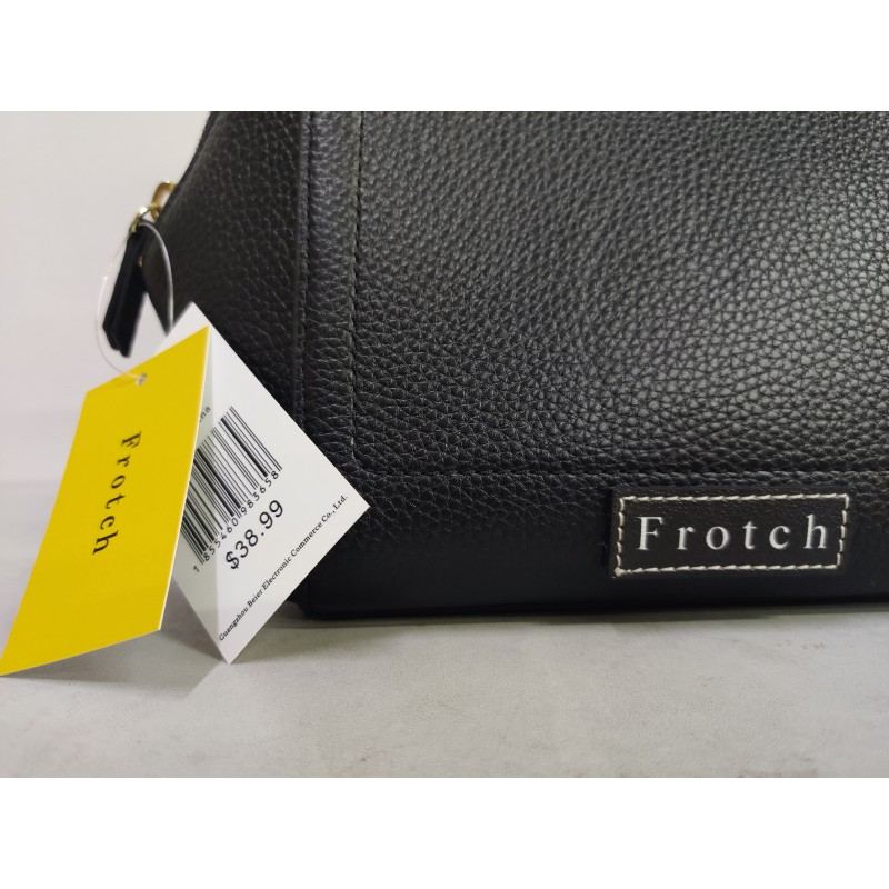 Frotch handbags for ladies gray Leather Wristlet  black