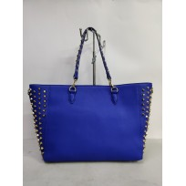 YHIWU Ladies handbag blue rivets