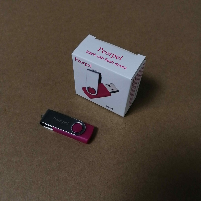 Peorpel blank usb flash drives 2G