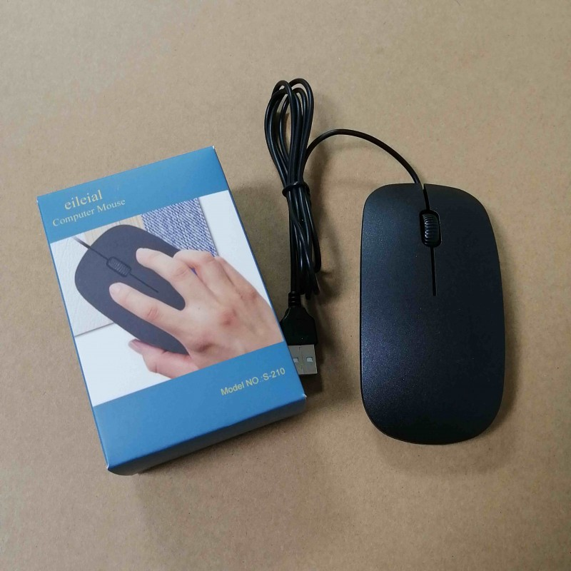 eileial Corded Mouse – Wired USB Mouse For Computers And Laptops, For Right Or Left Hand Use, Black