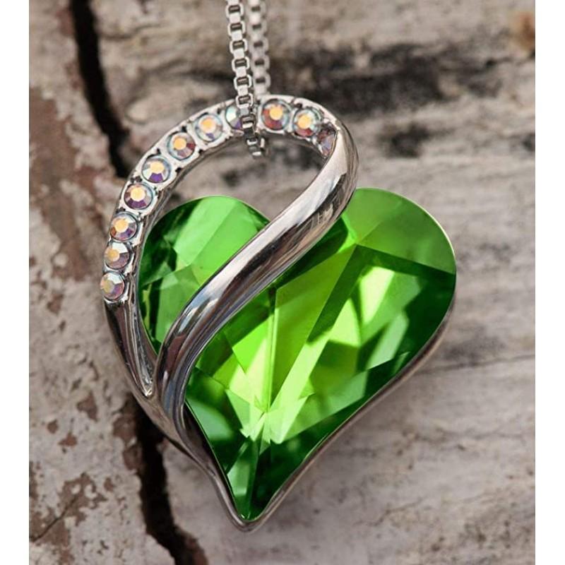 Leafael Infinity Love Heart Pendant Necklace Birth...