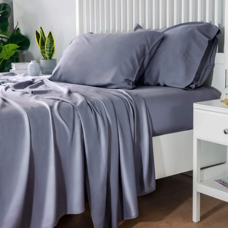 Bedsure 100% Bamboo Sheets King Size Cooling Sheet...