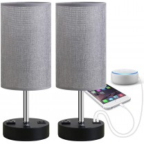 Focondot Table Lamp, Bedside Nightstand Lamps with...